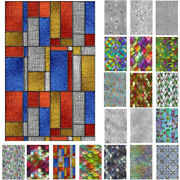3d Window Rainbow Privacy Stained Glass Static Cling Frosted Stickers Home Decor