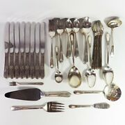 Rogers Bros Adoration Silverplate Flatware Serving Set Service For 8 67 Pieces