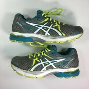 Asics Womens Gel-flux 3 Running Shoes Gray Green T664n Low Top Lace Up 6 M