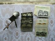 Antique Keystone Stereoscope With Several Stereoview Cards, Collectible