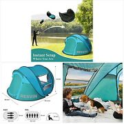 3-5 Person Pop Up Tent Camping Tents And Shelters Family Portable Instant Cabana B