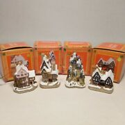 David Winter Cottages 1992 Christmas Ornaments Set Of 4