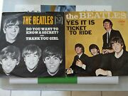 Beatles 45and039s Do You Want To Know A Secret Veejay Oval /ticket To Ride Capitol.