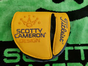Lh Scotty Cameron Phantom X Mid Round Mallet Putter Head Cover Headcover Mint