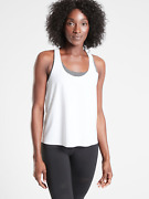 Athleta Xs Ultimate 2-in-1 Support Top Xs White/grey Heather Nwt