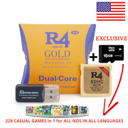R4 Gold-pro Isdhc 2021-ds/3ds/2ds/ndsll Revolution Cartridge - Micro Sd And Games
