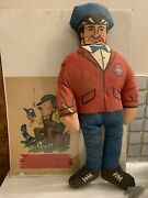 Vintage Derby Gas And Oil Doll And Auto Mechanic Print Usam