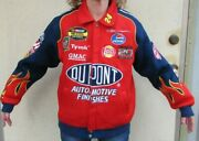 1990and039s Chase Authentic Jeff Gordon 24 Dupont Racing Collection Mesh Jacket Med