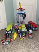 Paw Patrol Lot Tower Cars Trucks Mortar Cycles A Lot Of Action Figures