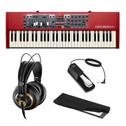 Nord Electro 6d 61-note Stage Keyboard W/ K 240 Headphones Pedal And Cover