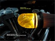3d Eagle Gold Led Air Cleaner Intake Filter Harley Motorcycle Elbow Point Cone