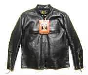 The Real Mccoyand039s Buco J-100 Size 46 Black Riders Jacket