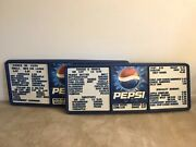 """Pepsi Pair Of Menu Board Restaurant Size 49 1/2"""" X 20"""" With Buckets Of Letters"""