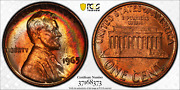 1965 Sms Lincoln Memorial Cent Pcgs Sp64+rb Penny Monster Toned Crescent Rainbow