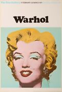 Andy Warhol Marilyn Monroe Exposition The Tate Galerie 1971 Vintage Poster