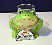 Jim Shore 2017 Heartwood Creek Frog Tea Light Votive Candle Holder With Tag