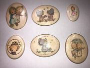 Vintage Lot Of Betsy Clark Wall Hanging Oval Chalk