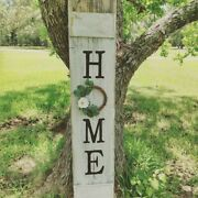 Large Welcome Home Sign Handmade Porch Front Door Farmhouse Wreath 5 Feet Tall