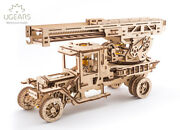 Ugears Mechanical Models - Puzzle Kit Mechanical Fire Truck With Ladder
