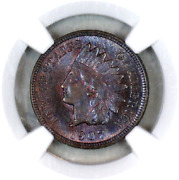 1907 Ms64 Bn Ngc Indian Head Penny Premium Quality Superb Eye-appeal