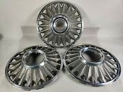 3 1967 Ford Mustang Hubcaps 14andrdquo Vintage Set 67and039 Wheel Covers Oem Used