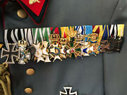 Wwi Reproduction German Medal Bar, Prussian Mounting.