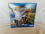 Sony Playstation 3 Super Slim Uncharted 3 Game Of The Year Bundle 250gb New