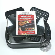 Used Power Grill Portable Smokeless Grill With Large Grilling Surface In Black
