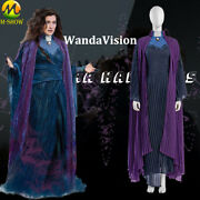Wandavision Agatha Harkness Cosplay Costume Witch Dress For Halloween Any Size