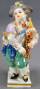 Meissen Hand Painted G11 Boy With Bagpipes Figurine Circa 1870 - 1880