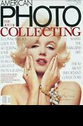 Marilyn Monroe Signed Bert Stern Large American Photo Cover Pin-up Last Sitting