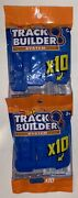 Hot Wheels Track Builder Blue Connectors Two Pack Lot 10 In Each Pack, 20 Total