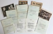 Truman Harry S. And Eisenhower Dwight D. - Letter Archive To Classmate 7 Letters