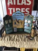 Vintage Camel Cigarette Tin Zippo Store Display Counter With Lighters