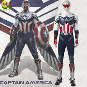 The Falcon Cosplay Costume Sam New Captain America Armor Suit For Men