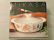 New Mikasa Fire And Ice Silk Flowers Freezer To Flame 2 Qt.8 Casserole Dish W/lid