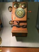 Thomas Collectors Edition Wall Phone Pp-9 Push Button1927 Oak As Is Untested