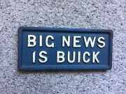 Big News Is Buick Old Cast Iron News Stand Newspaper Paperweight Vintage Auto Ad