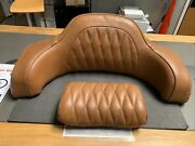 Used Trunk Leather Backrest Pad For Indian Motorcycle D . Tan 2880284-06