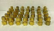 Swagelok Brass Tube Fitting Female Connector 1/8 X 1/8 B-200-7-2 Lot Of 36