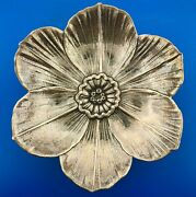 Gianmaria Buccellati Heavy Sterling Silver 925 Floral Flower Candy Dish Bowl