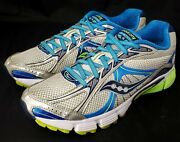 Saucony Womenand039s Ignition 4 Running Shoeand039s Size 9 Grey / Blue 15169-2