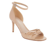 Marc Fisher Ankle Strap Pumps With Bow Detail Light Natural