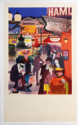 Ronald Glendening Bright Lights Of The West End Lithograph Poster Mounted On L