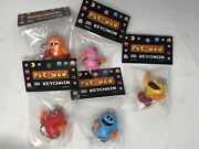 Bandai Namco Pac-man 3d Keychains - Full Set - Pac Man And 4 Ghosts