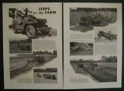 Willys Ford Army Jeep For Farm 1943 Wwii Dept Of Agriculture Vintage Pictorial