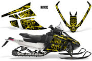 Arctic Cat F Series Sled Wrap Snowmobile Graphics Kit Stickers Decals Havoc Yllw