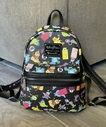 Rare Loungefly Monsters Inc Mini Backpack Disney Parks