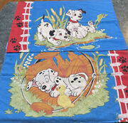 Vintage Lot Of 2 Disney 101 Dalmatians Puppies Double Sided Pillowcases