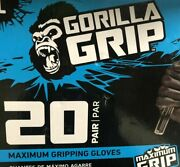 Grease Monkey - Extra Large Gorilla Grip Gloves 20 Pairs Pack